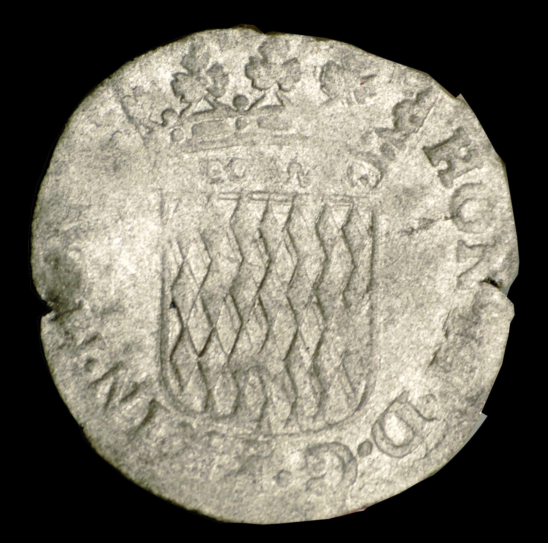 1648 honore ii 1 6eme pezzeta avers