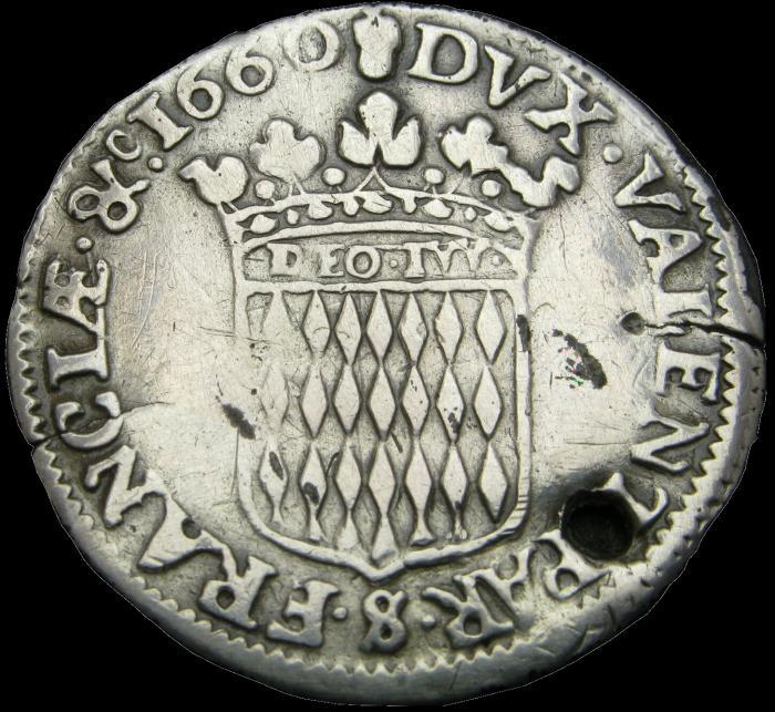 1660 honore ii 12eme d ecu avers