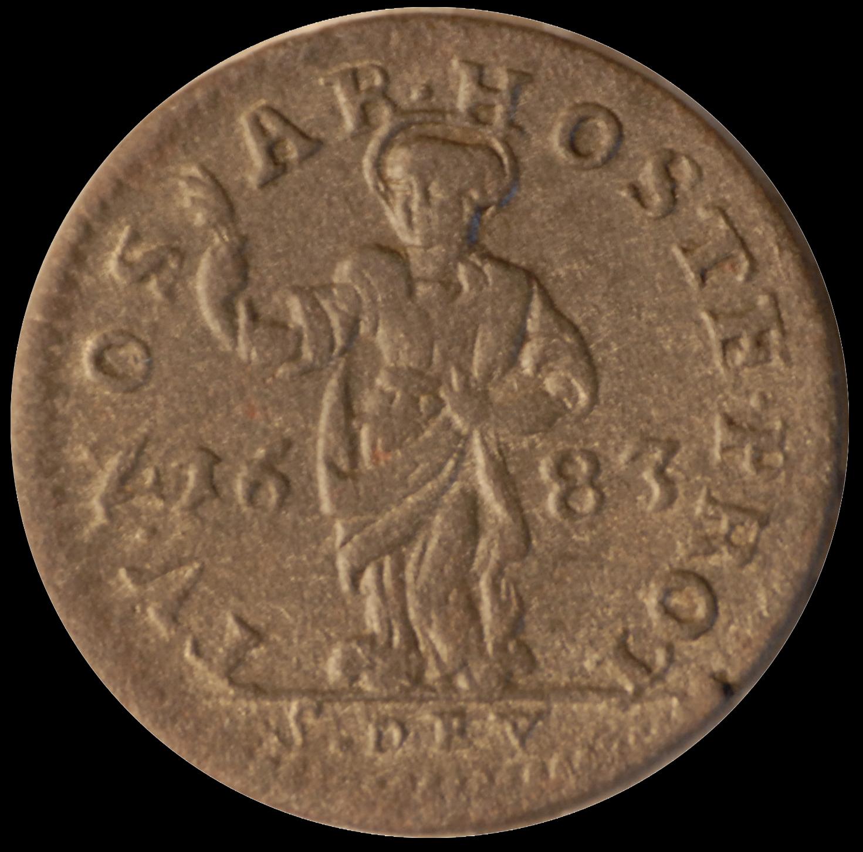 1683 louis 1er sol d inverse avers