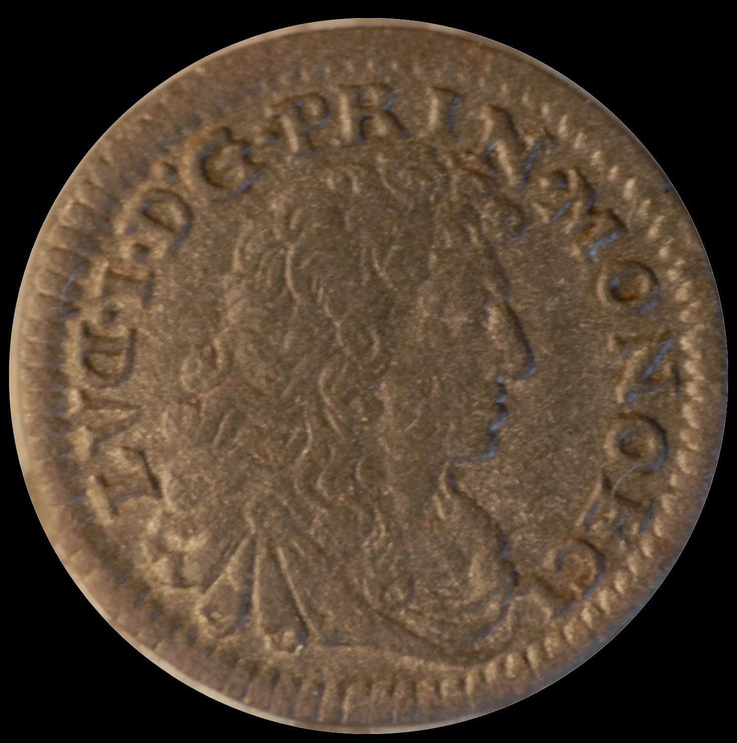 1683 louis 1er sol d inverse revers