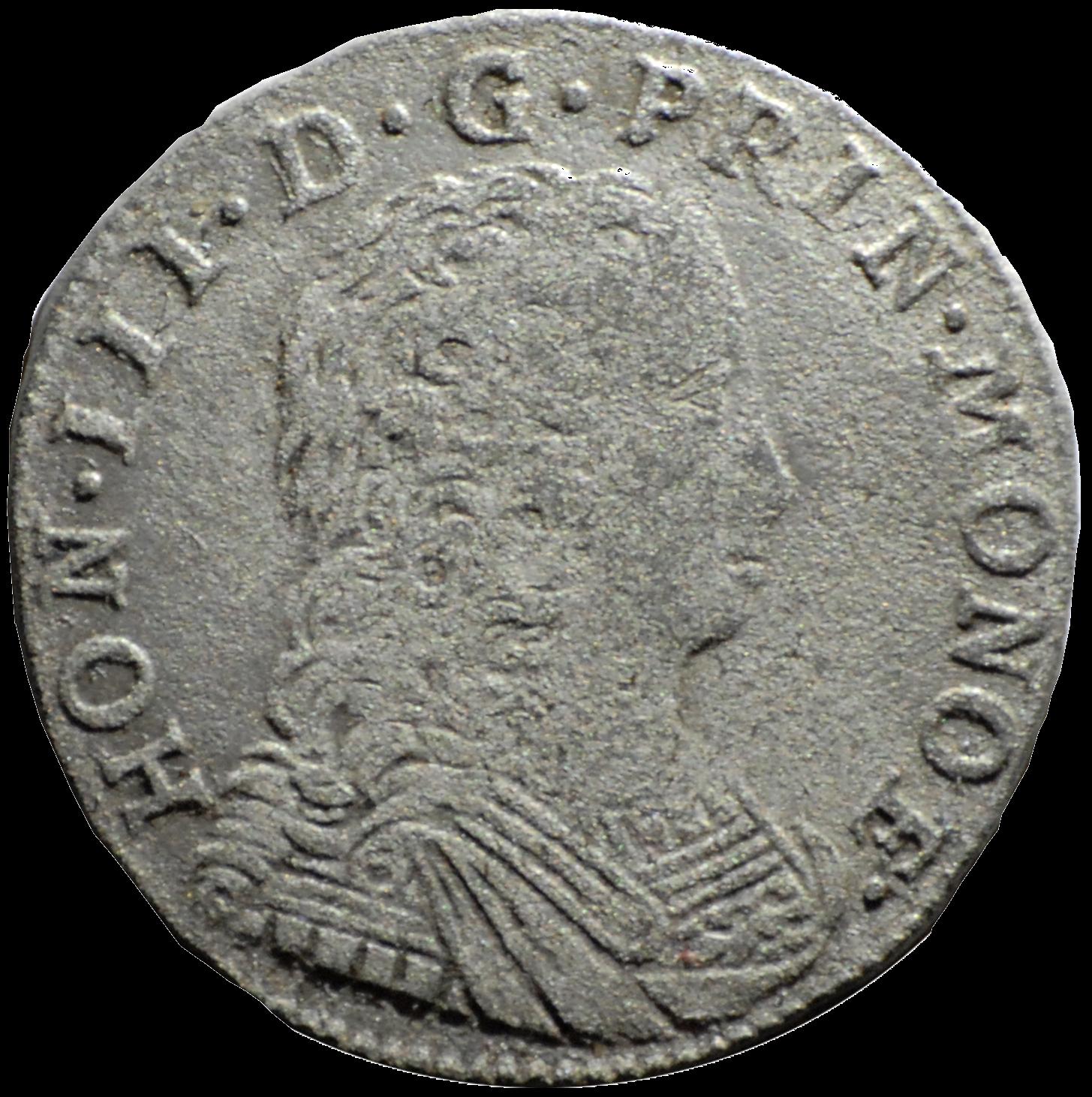 1735 honore iii demi pezzetta avers
