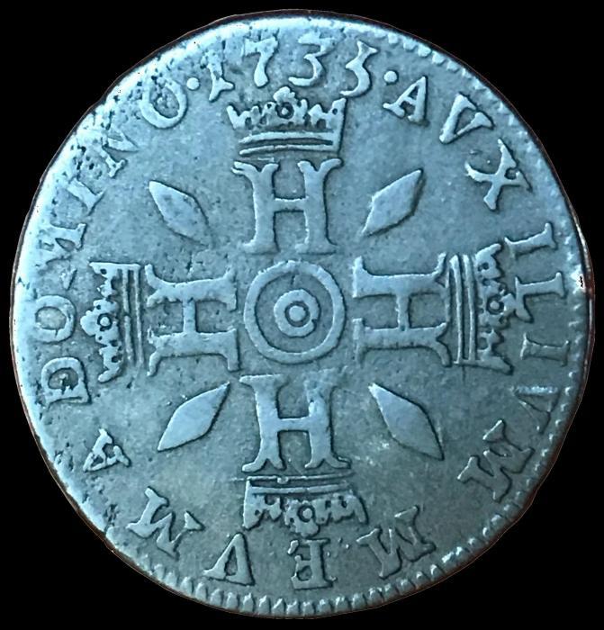 1735 honore iii demi pezzetta revers b