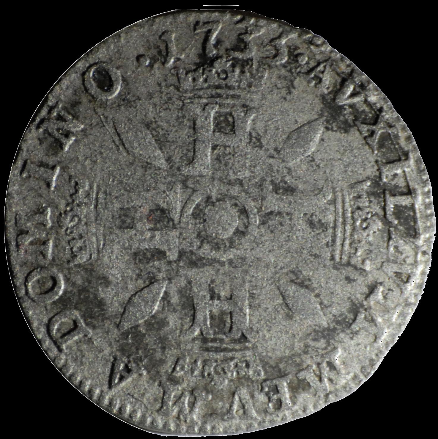 1735 honore iii demi pezzetta revers