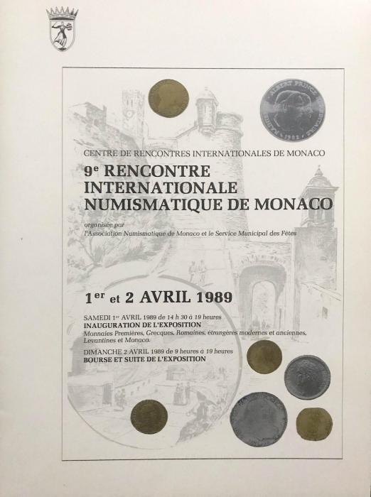 9eme rencontre intrnationale numismatique de monaco